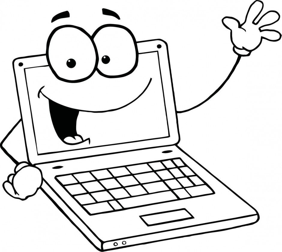 Computer Coloring Pages Computer Basics Easy Coloring Pages