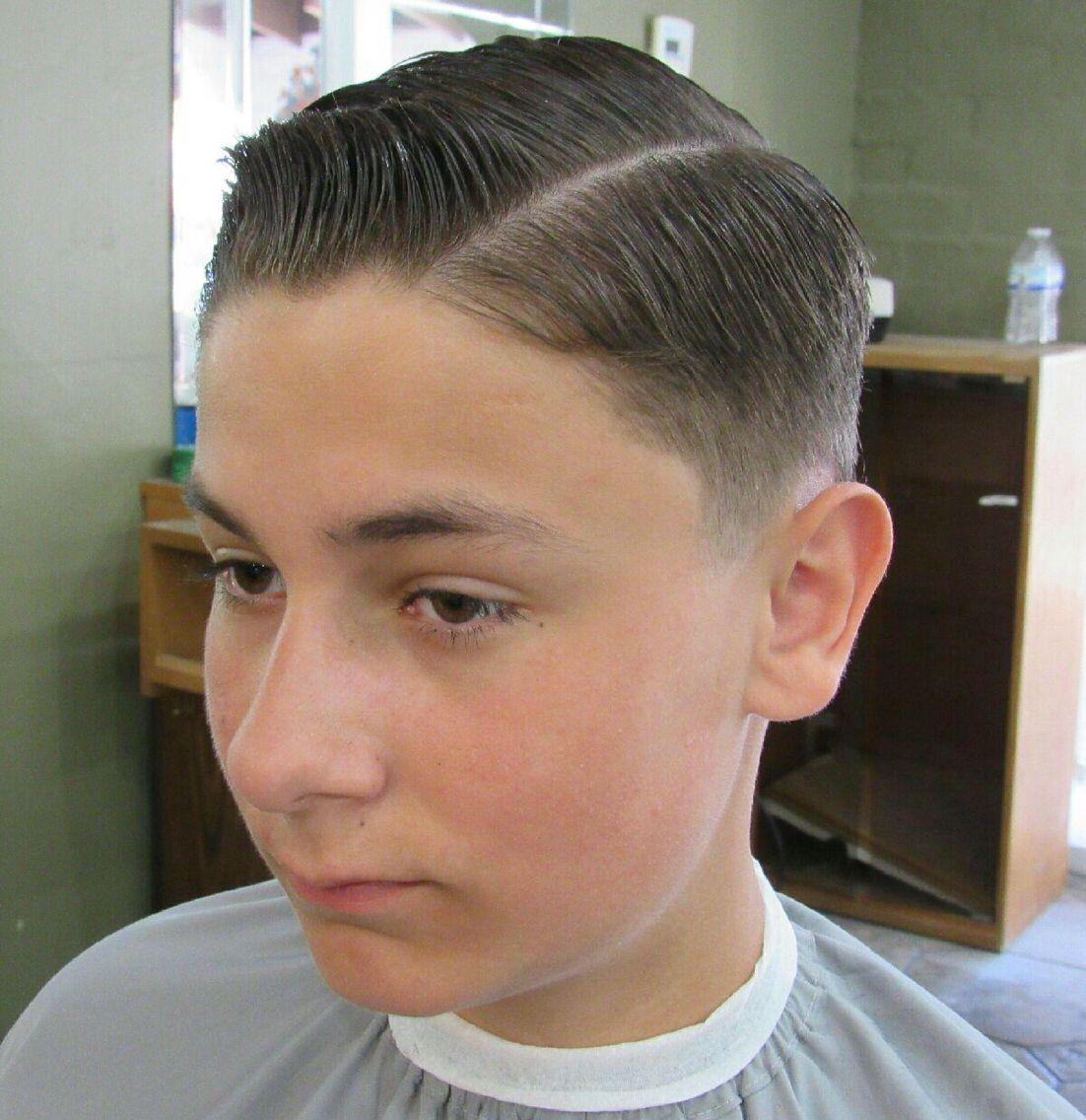 Classic Comb Over Haircut Luigis Barber Shop Pinterest