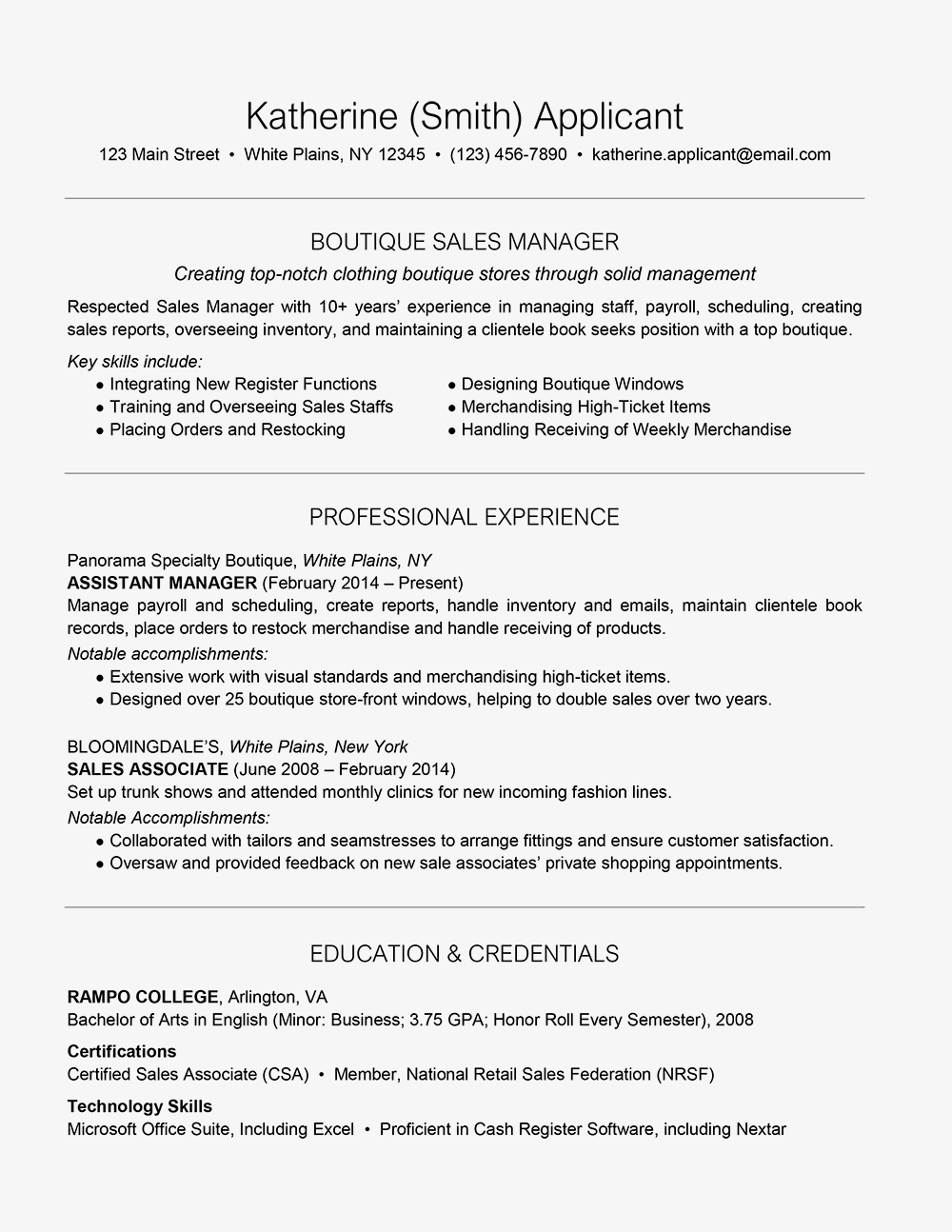 How to Include a Name Change on Your Resume Job planning