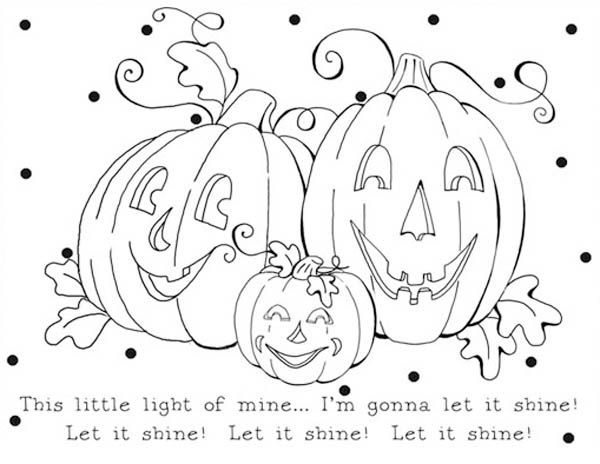 Let It Shine Pumpkins Coloring Page Pumpkin Coloring Pages Family Coloring Pages Cartoon Coloring Pages