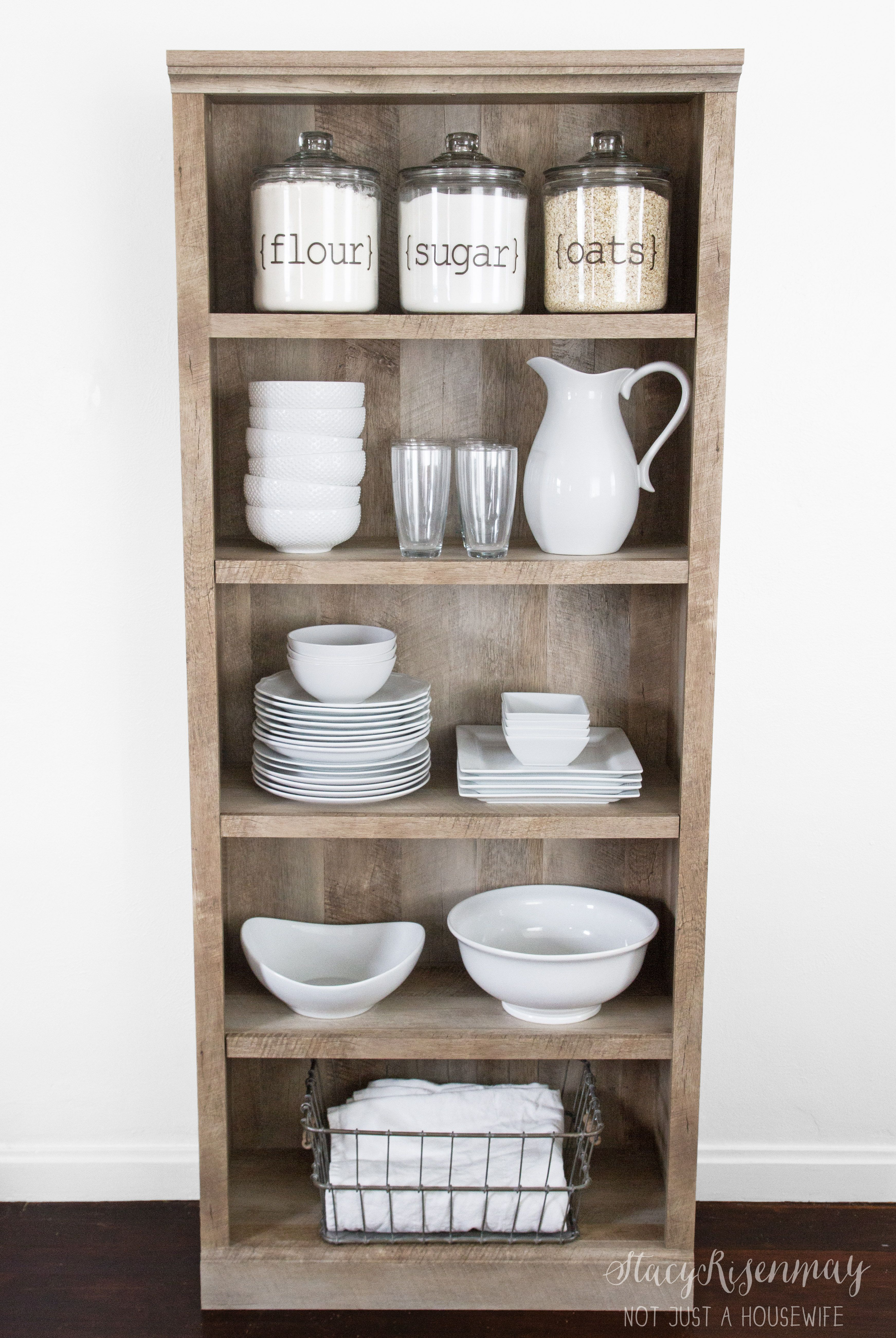 Use A Bookshelf As A Pantry Or Kitchen Hutch Bhg 39 S Best
