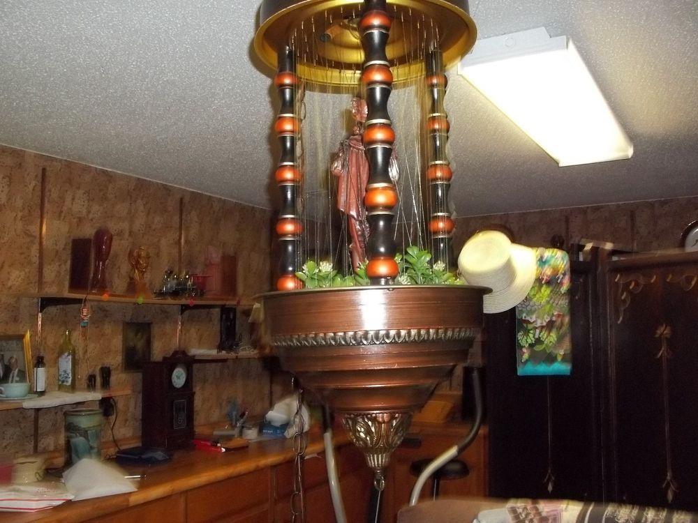 VINTAGE RETRO 1960s OR 70s OIL RAIN LAMP CONAUESTADOR SWAG
