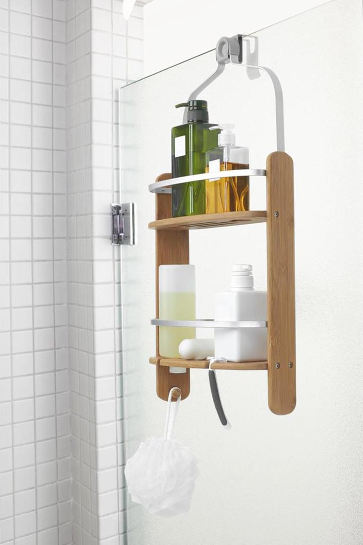 Umbra Duschregal Duschablage Shampoo Halter Dusche Regal Fur Duschwand Bambus Alu Duschregal Duschablage Aufbewahrung Dusche
