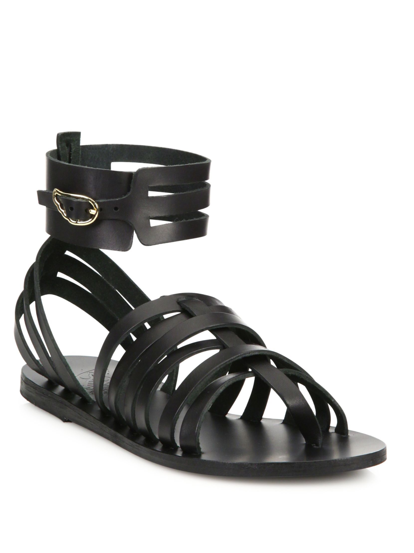 1f4e83424b7 Ancient Greek Sandals Zaira Leather Gladiator Sandals