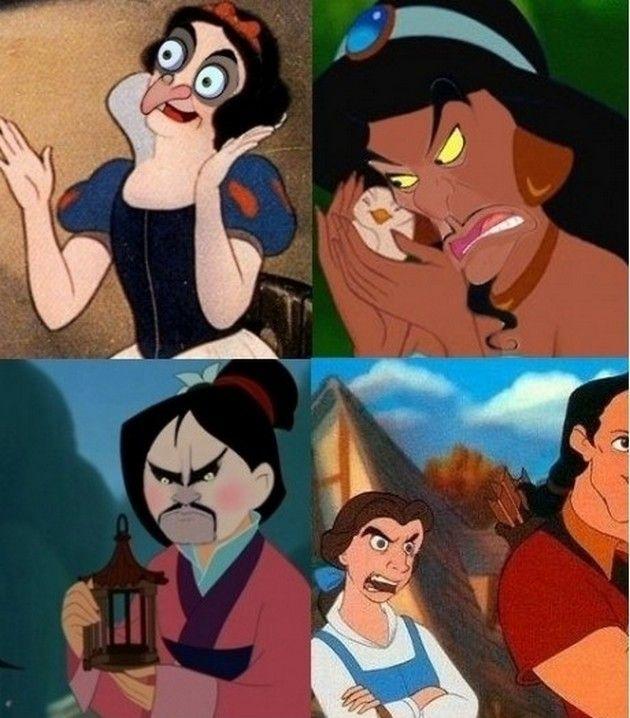 Funny Disney 07 ディズニーアート 面白い画像 面白画像