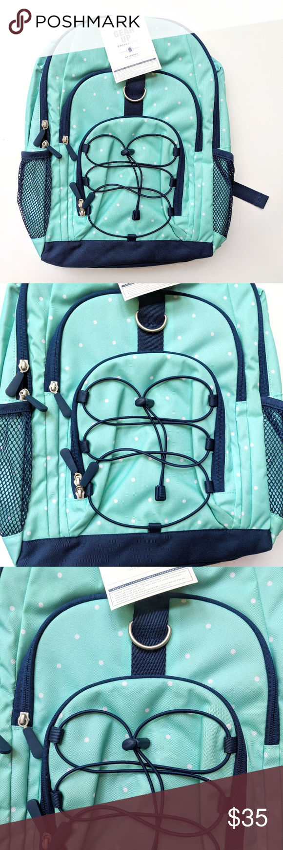 Pottery barn teen aqua navy girls backpack pottery barn teen aqua navy blue girls  backpack size 190c5cad23