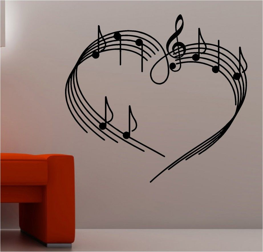 Home Decoration Fantastic Illustrated Musical Notes On Sheet Music