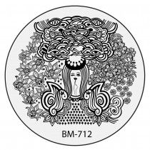 Bundle Monster Nail Stamping Plate 2015 Secret Garden Collection - BM712:Flowers For Brains