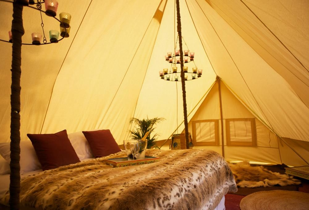 Home Glamor Camping Bell Tent Tent What Is Glamping