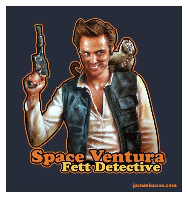 Space Ventura Fett Detective by James Hance #Star_Wars #Ace_Ventura