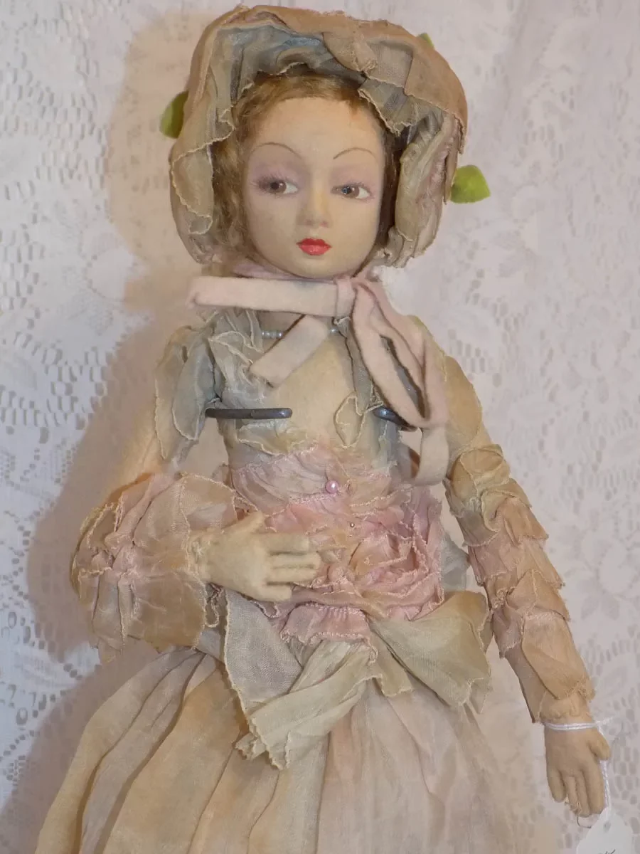 Pin On Antique Felt Boudoir Dolls