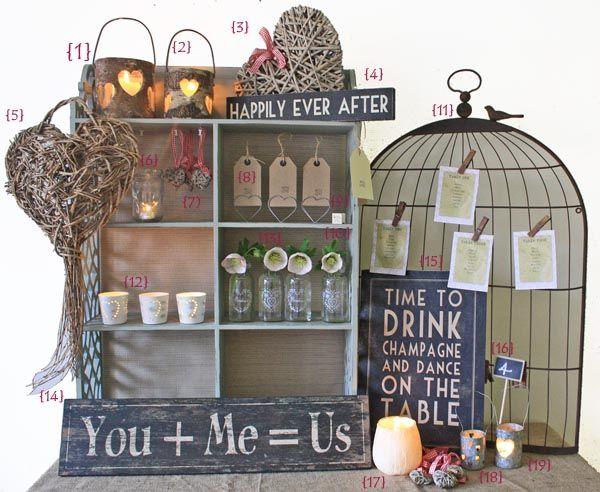 http://theweddingofmydreams.co.uk/blog/2011/04/rustic-wedding-theme-table-decorations-and-wedding-reception-decorations-for-rustic-weddings/