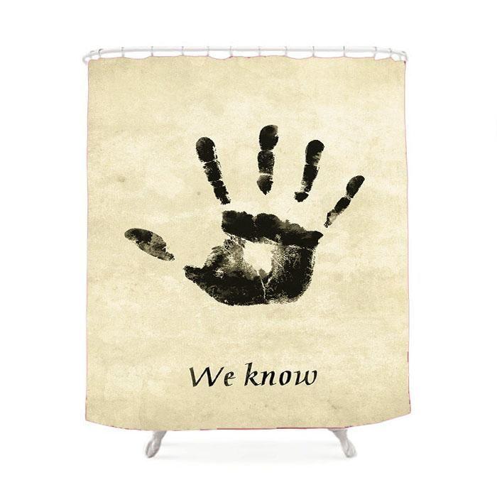 Skyrim Dark Brotherhood We Know Shower Curtain