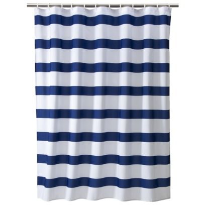 Blue Rugby Stripe Curtains