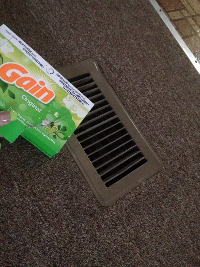 I have vents in my floors to heat my home and to keep my ...