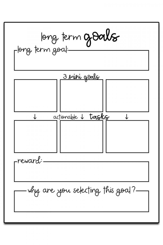 Goals Template Goal Setting Worksheet in 2020 Goals
