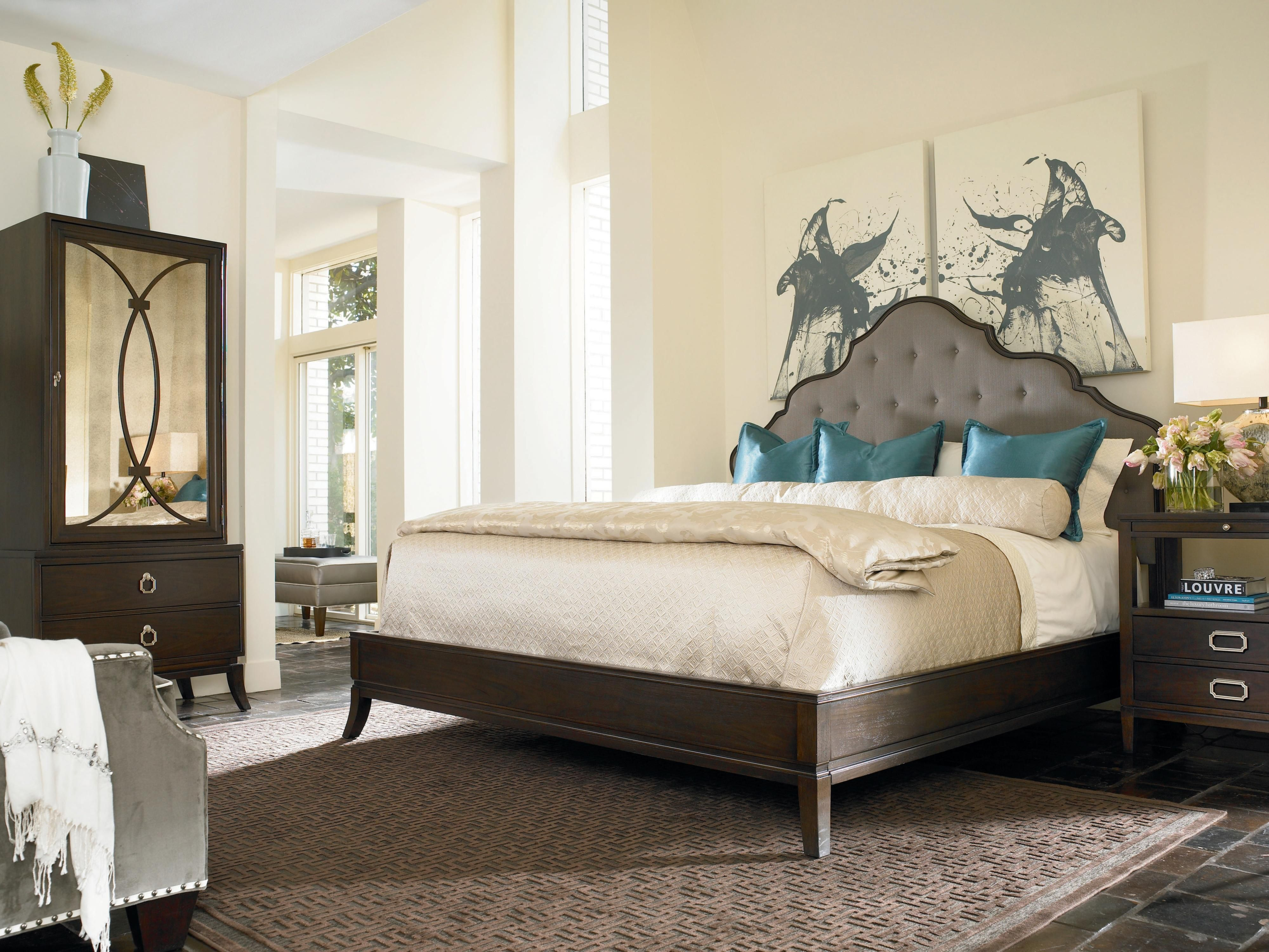 This Upholstered Bed Is Sure To Bring A Touch Of Elegance Into Your Bedroom