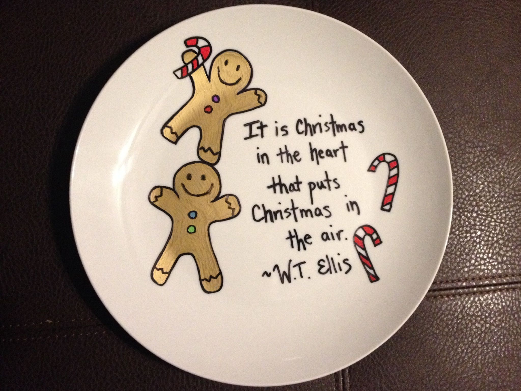 Sharpie Christmas plate