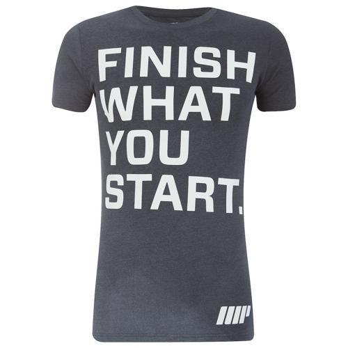#Myprotein men's slogan t-shirt charcoal l  ad Euro 28.99 in #Myprotein #Abbigliamento camicie e top