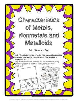 characteristics of metals metalloids and nonmetals sort properties of matter pinterest. Black Bedroom Furniture Sets. Home Design Ideas