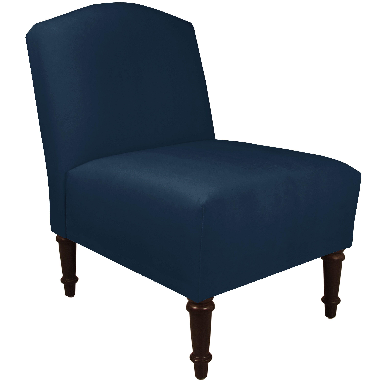 Skyline Furniture Premier Navy Slipper Accent Chair Premier Navy