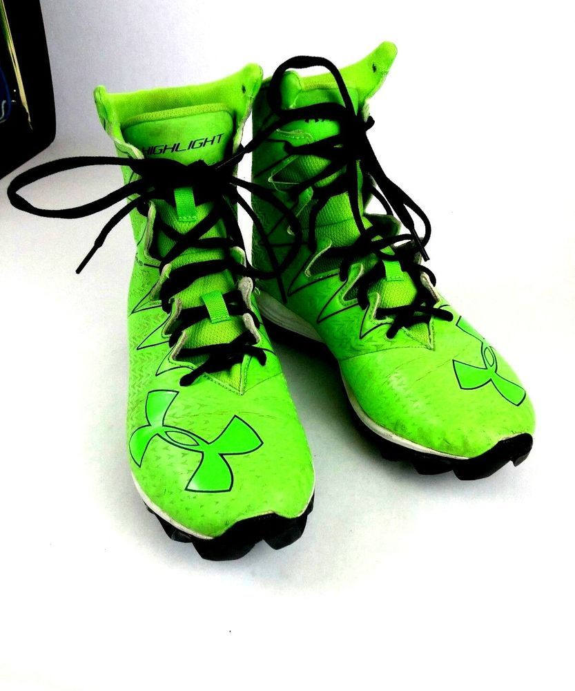 db50cb6f2e95 Style - Clutch Fit Highlight. Size - 5.5 Youth. | eBay! Under Armour Youth  Size 5.5 Green Highlight Clutch Fit Football Cleats ...