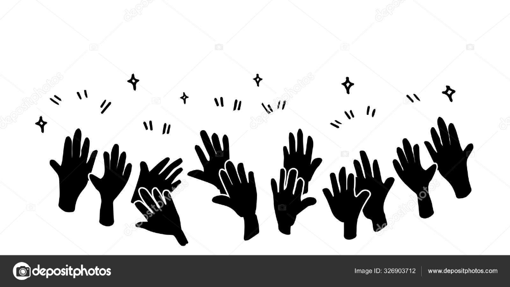 Download Doodle Of Hands Up Hands Clapping Applause Gestures Congratulation Business Vector Business Vector Illustration Vector Illustration Illustration