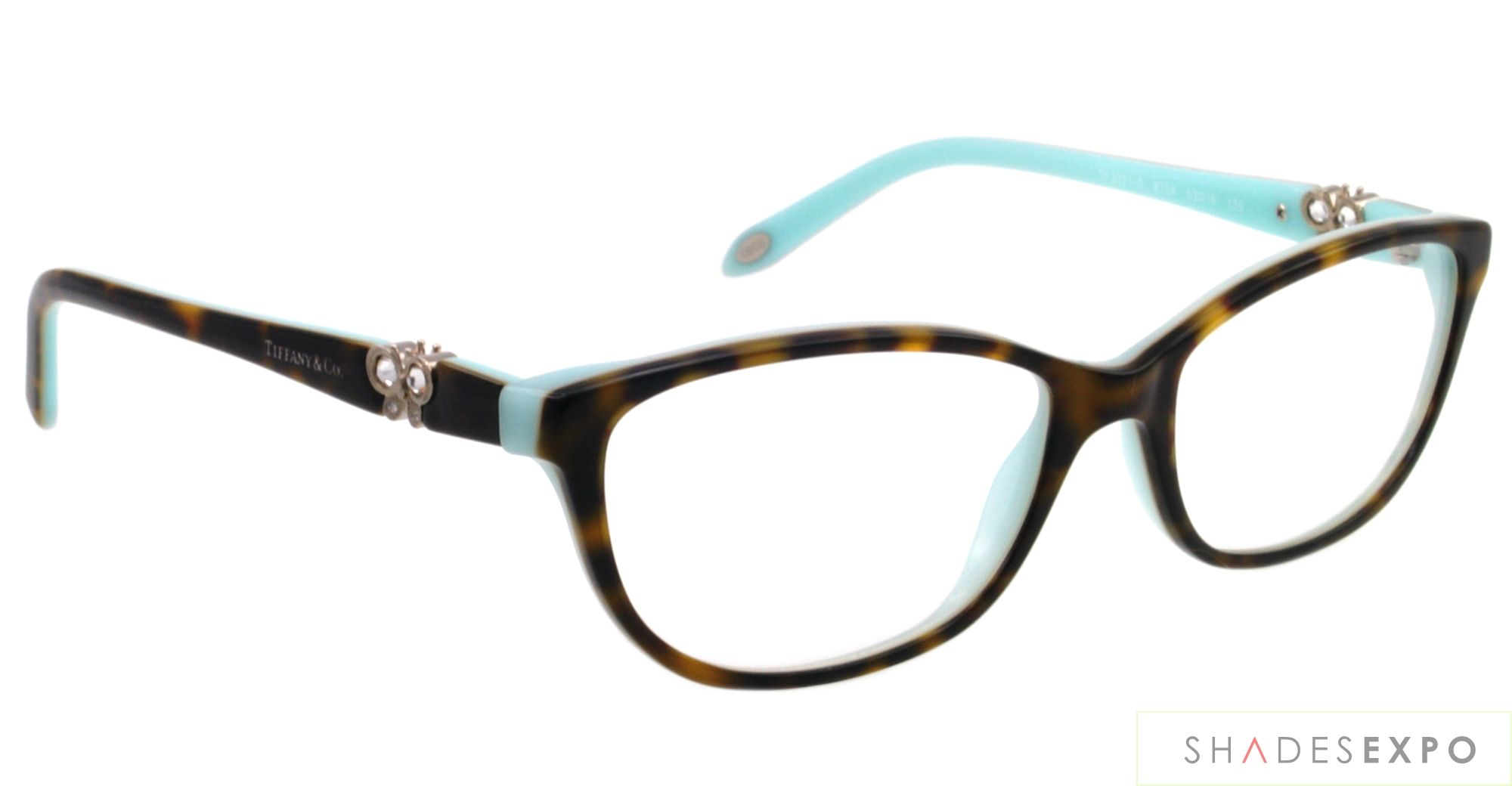 94b51f03bcf7 NEW Tiffany Eyeglasses TIF 2051B HAVANA 8134 TIF2051 53MM AUTHENTIC ...