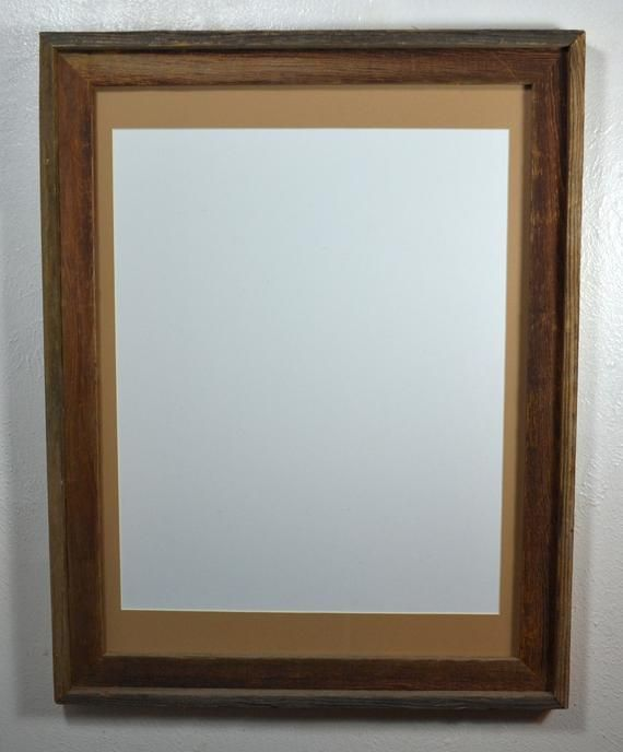 18x24 Rustic Gray Reclaimed Wood Poster Frame 16x20 Saddle