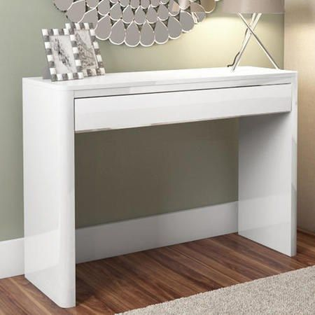 Lexi White High Gloss Console Table Furniture123 100w x78h 35d