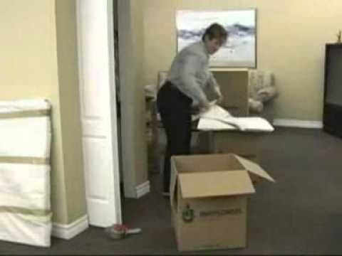 Don't let your precious shoes get damaged when you move (like I did)! How to pack shoes in a moving box.