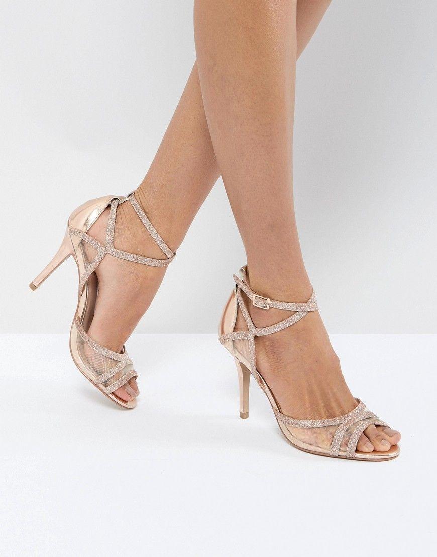 8c7cef659cb7 Carvela Glitter Mesh Heeled Sandal – Copper