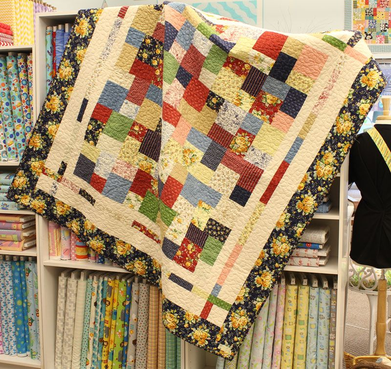 The double slice layer cake quilt. To learn how, check out this ... : double layer cake quilt - Adamdwight.com