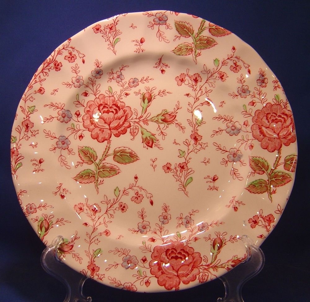 Johnson Brothers Rose Chintz Dinner Plate Made In England & Johnson Brothers Rose Chintz Dinner Plate Made In England ...