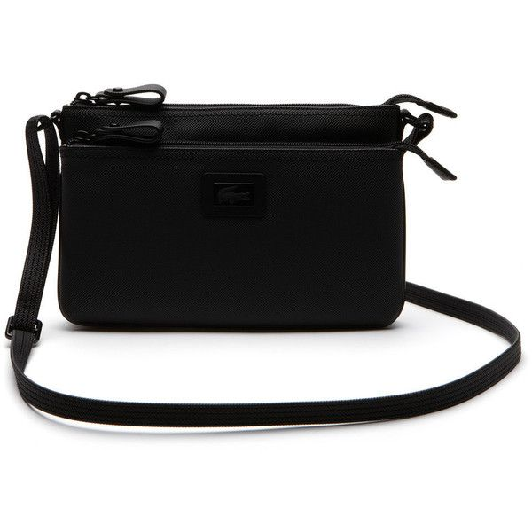 Lacoste Women S Classic Double Zip Crossbody Bag 115 Liked On Polyvore Featuring Bags