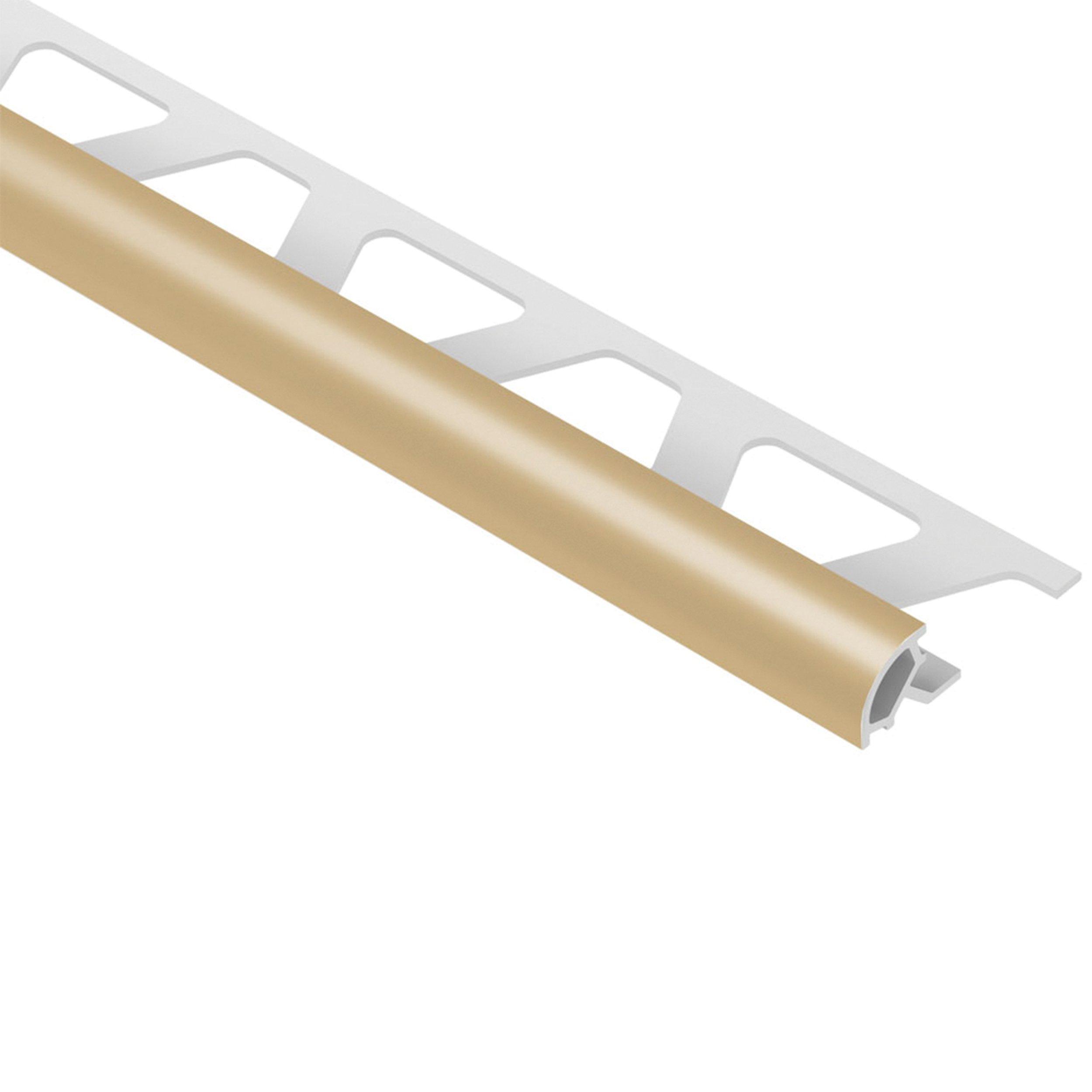 Schluter Rondec Bullnose Trim 1 4in Pvc Light Beige Light Beige Tile Edge Beige