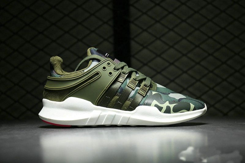 Discount 2017 UK Trainers adidas EQT Support ADV Primeknit 93 Army Green Camo Size 40-45 42.5 44.5 For Cheap