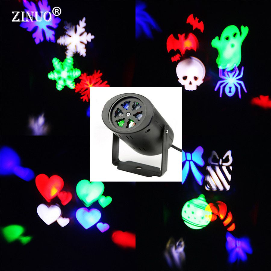 ZINUO Waterdichte Moving Sneeuw Laser Projector Lamp Sneeuwvlok LED ...