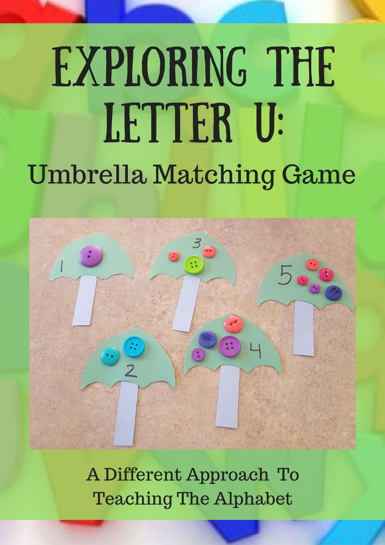 Exploring The Letter U: Umbrellas and Unicorns   Matching games ...