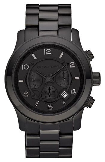 49eea1cd2da Michael Kors  Blacked Out Runway  Chronograph Watch