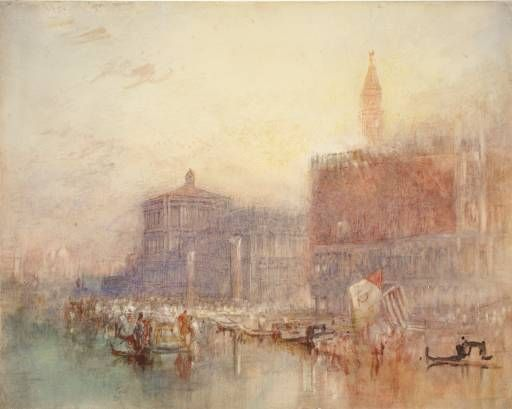 The Doge S Palace And Piazzetta Venice Joseph Mallord William