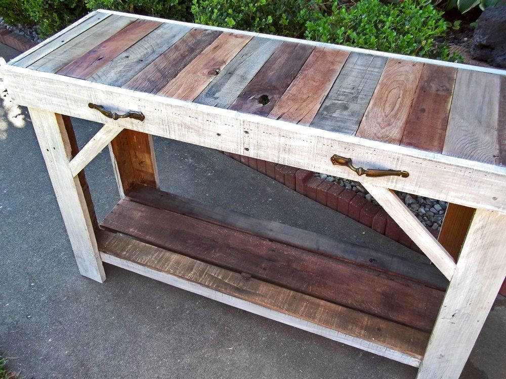 custom made rustic reclaimed pallet entry table | lexi's birthday