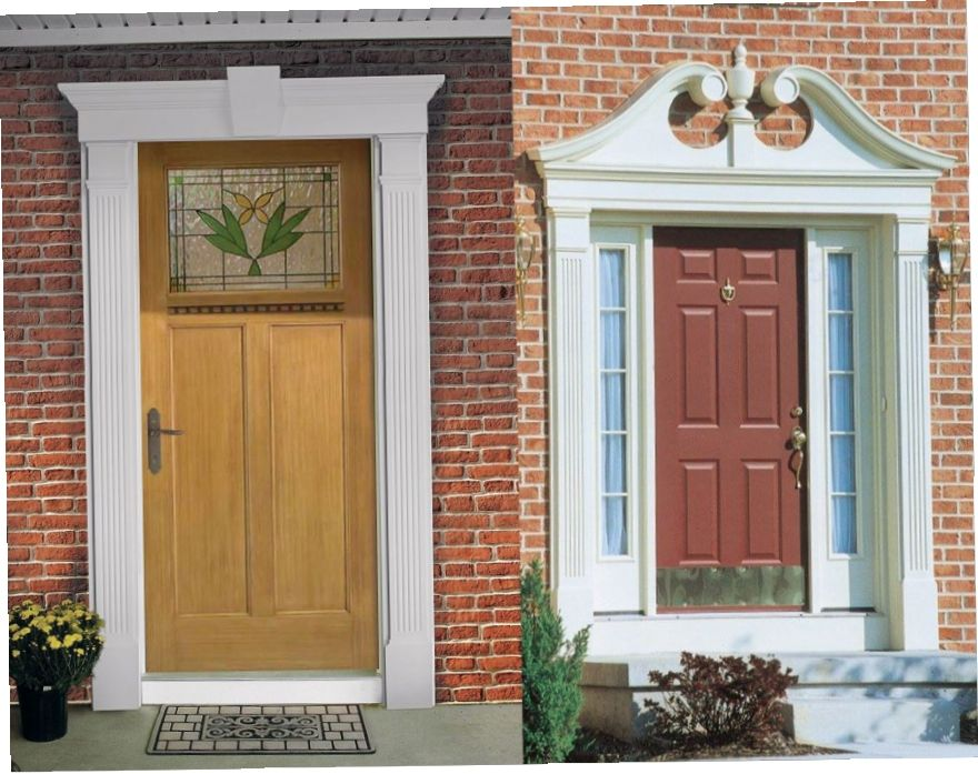 Exterior Door Trim >> Exterior Door Trim Idea Molding Around Front Door Outside As