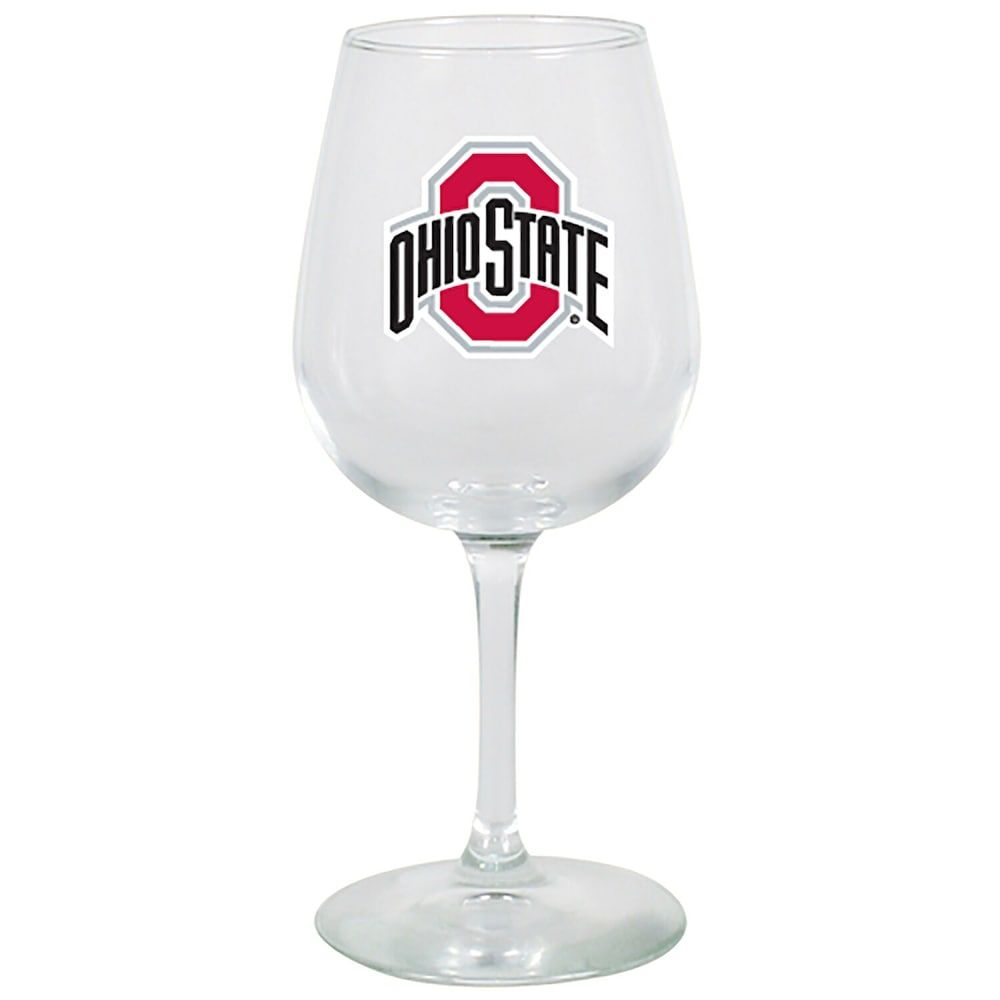 Ohio State Buckeyes 12oz. Stemmed Wine Glass #ohiostatebuckeyes