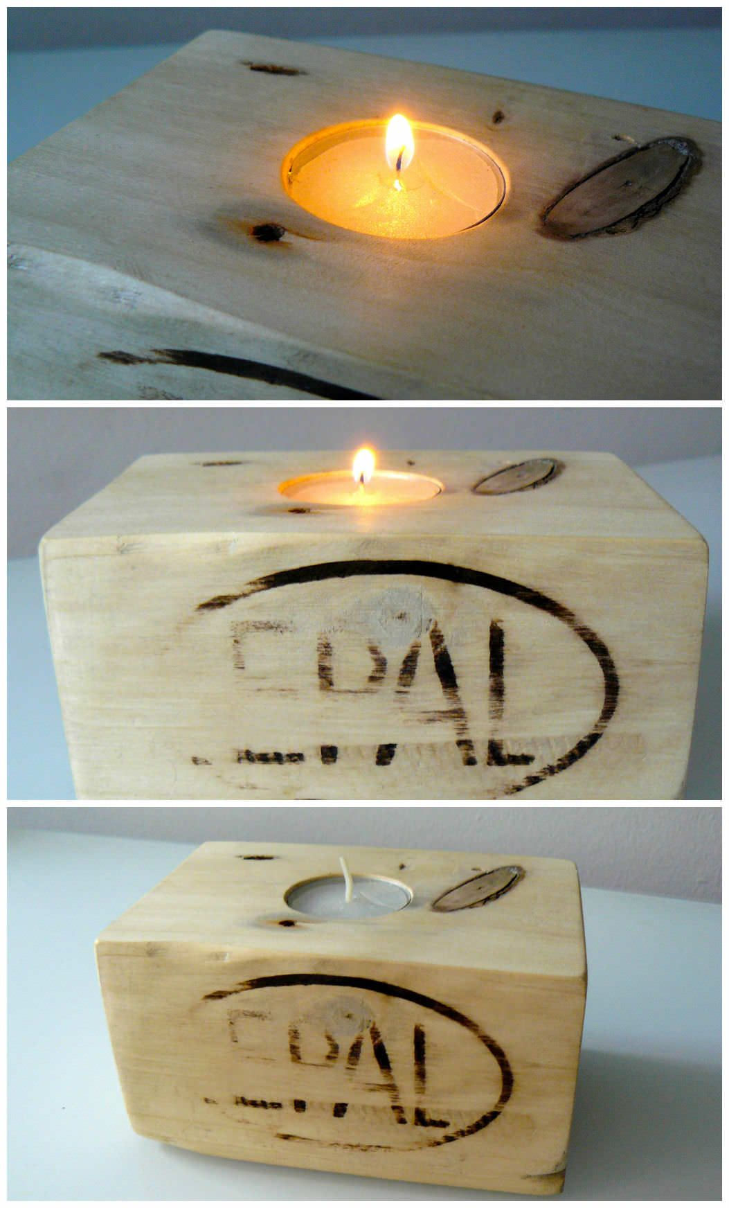 #CandleHolder, #RecycledPallet