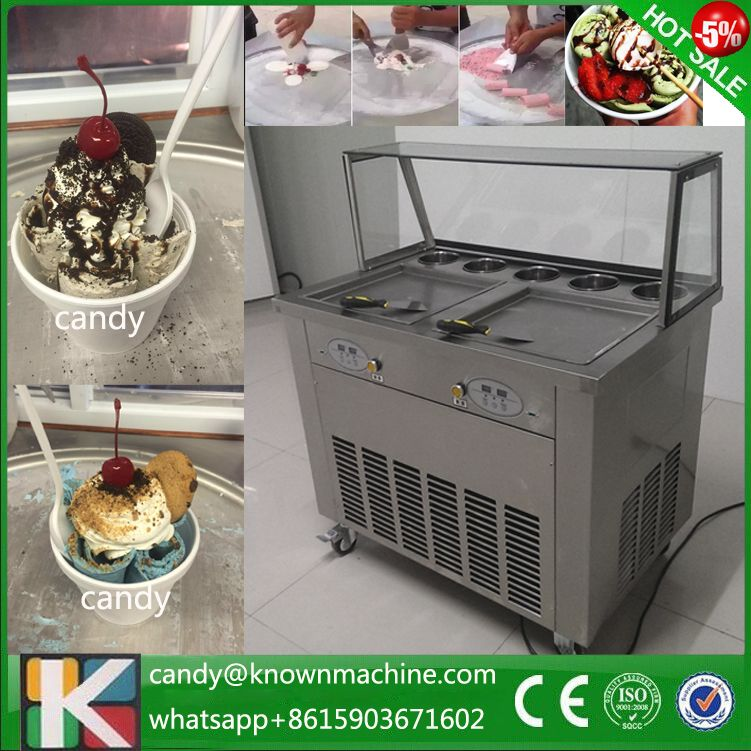 with temperature control fried ice cream machine 50 50cm pan fried ice maker