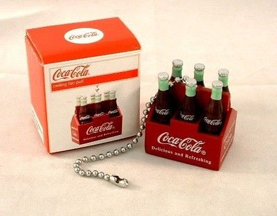 Coca cola six pack bottles ceiling fan light pull coke collectible coca cola six pack bottles ceiling fan light pull coke collectible aloadofball Gallery