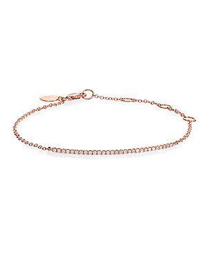 Meira T Diamond & 14K Rose Gold Bar Chain Bracelet Rose Gold