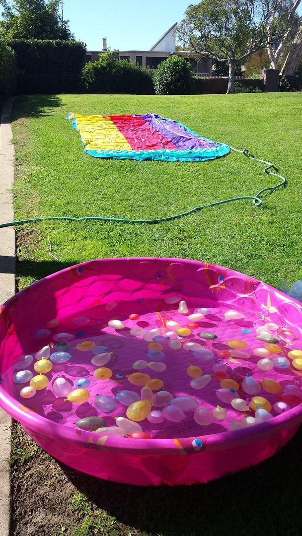 Water party!! Summer fun - kiddie pool - water balloons ...