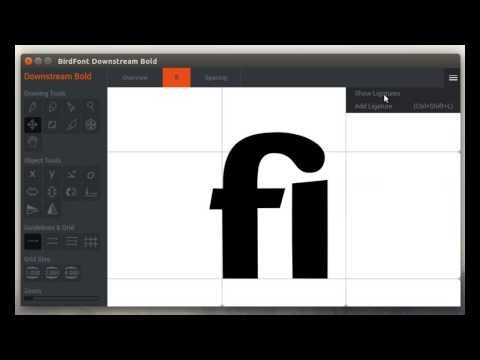 Creating Ligatures For A Font In Birdfont Lettering Fonts Font Editor New Fonts